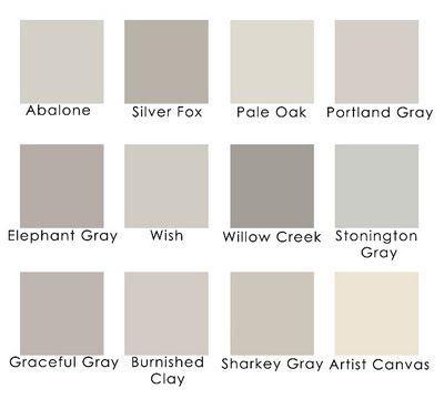 Lavender grays: Benjamin Moore Abalone Benjamin Moore Silver Fox Benjamin Moore…                                                                                                                                                                                 More