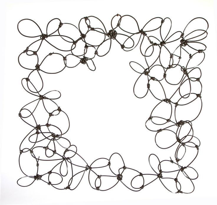Anadora Lupo metal sculpture - knotted frame