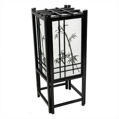 Features:  -Bamboo tree theme.  -Wooden lattice design.  -Hand-screened and hand painted white rice paper.  Fixture Material: -Solid Wood.  Bulb Type: -Fluorescent/Incandescent. Generic Specifications