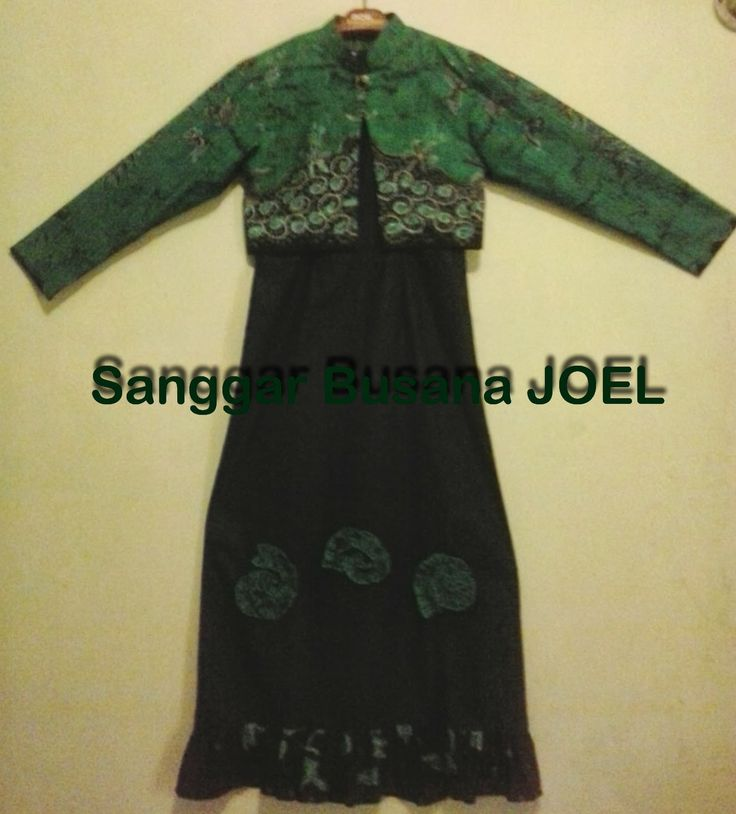 Gamis Batik Variasi Hijau Hitam
