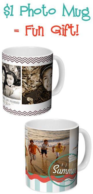 $1 Photo Mug = Fun Gift! {+ s/h} #mugs #thefrugalgirls