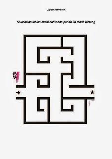 gambar permainan maze/labirin anak usia dini (balita, TK)