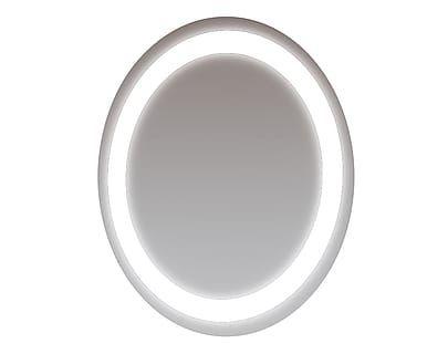 Specchio da parete tondo retroilluminato a led in vetro Giada, 60x3x60 cm