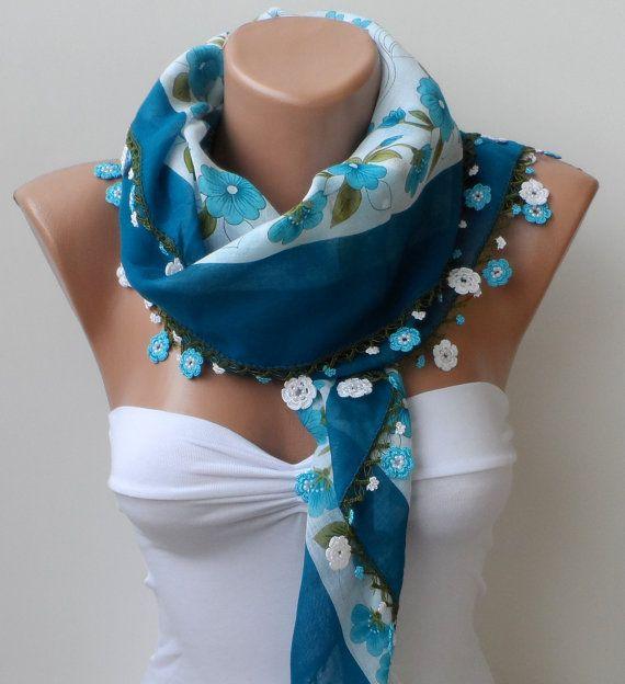 Crochet scarf, Yemeni scarf, oya lace scarf, Handmade Traditional Turkish Fabric Scarf, Crochet Oya