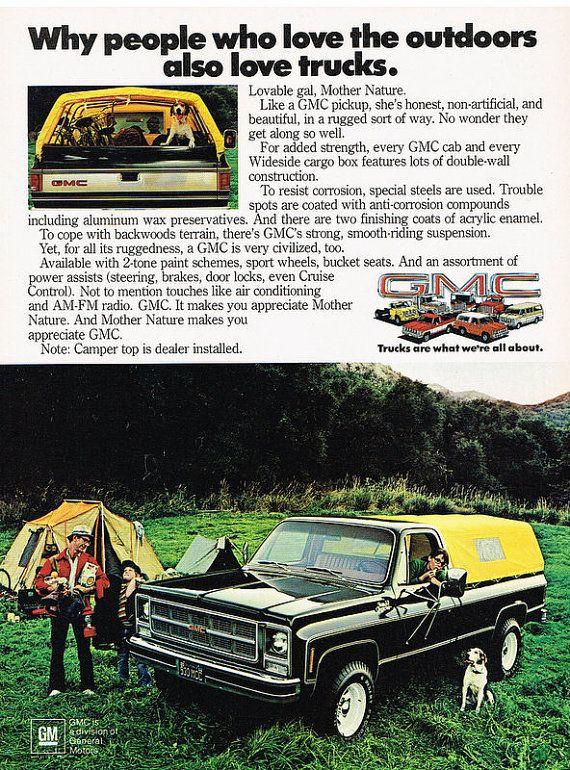 Vintage 1979 GMC Sierra Classic 4x4 Pickup Truck by OldAdsPlus