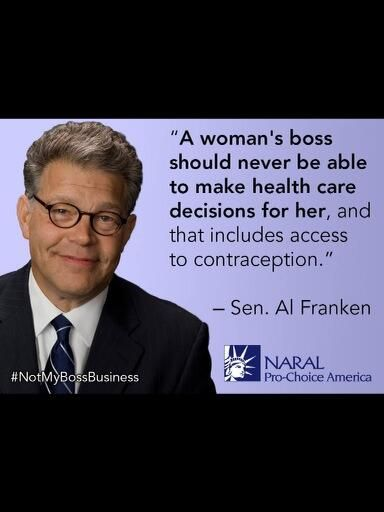 Democrats understand that healthcare should be handled between women and their doctors.  Bosses and government interjection is a republican ideal.