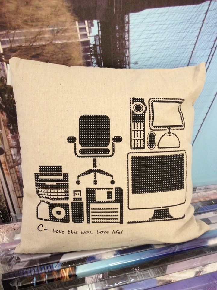 Can't live without a computer? We have it printed on Eco Jute Cushion!