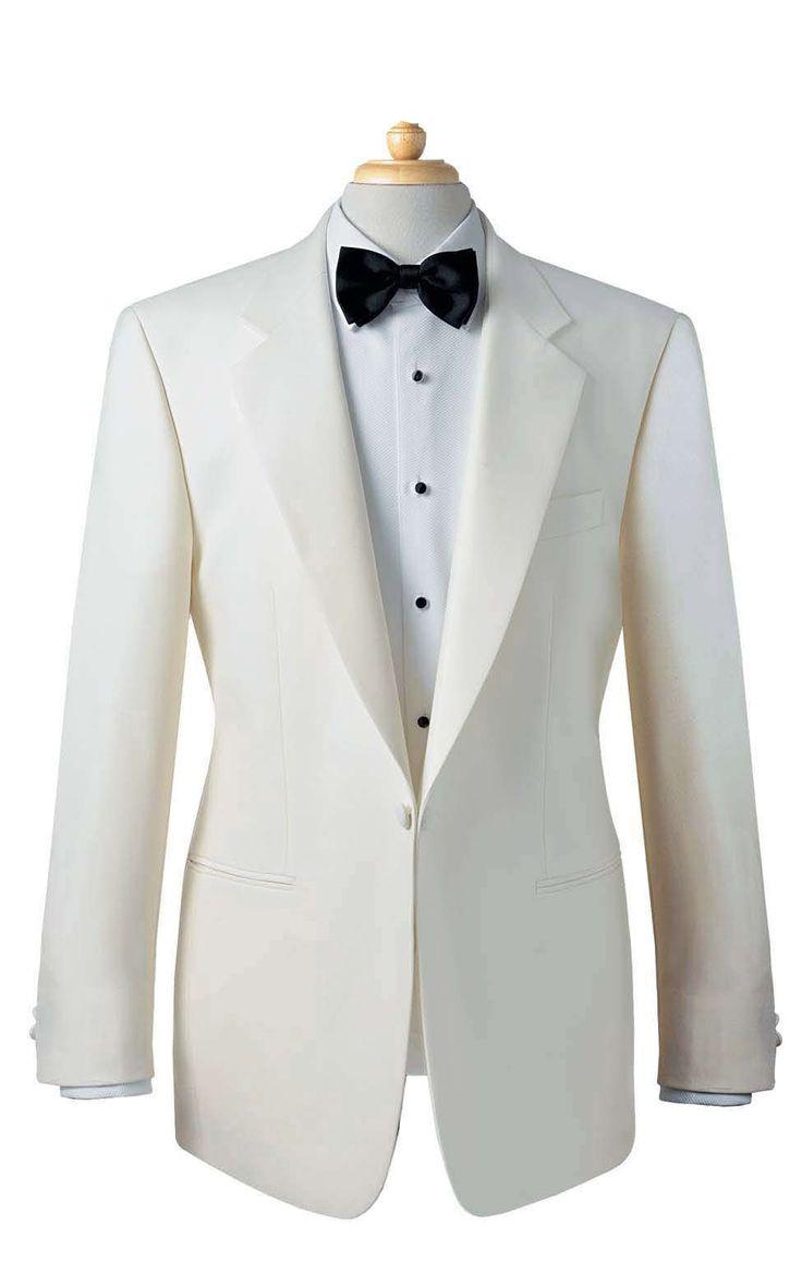 The groom: white tuxedo