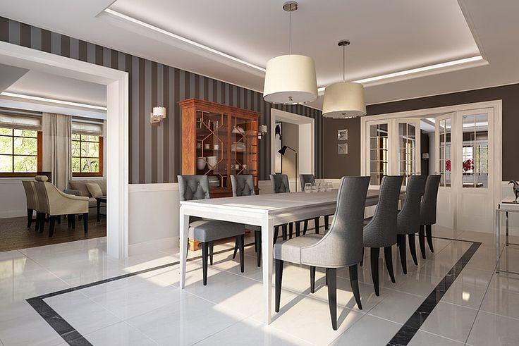 AVANGARDE oak table in the dining room. 300x100x76 cm custom size. Colour: Off White. - www.miloni.pl/en MILONI: wooden table, oak table, natural wood table, table design, furniture design, modern table