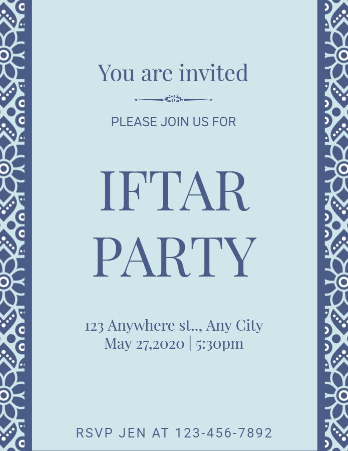 Ramadan Iftar Party Event Invitation Poster Template Iftar Party Iftar Event Invitation