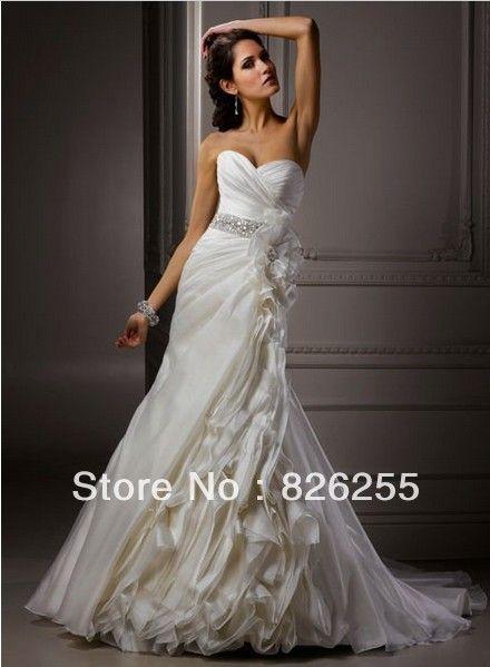 2013 Бесплатная доставка на заказ новое прибытие нескольких слоев роскошные королевские свадебные платья империя оптовая/розничной WD0097