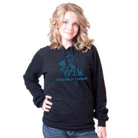 Monster in Training Turquoise American Apparel Pullover Hoodie