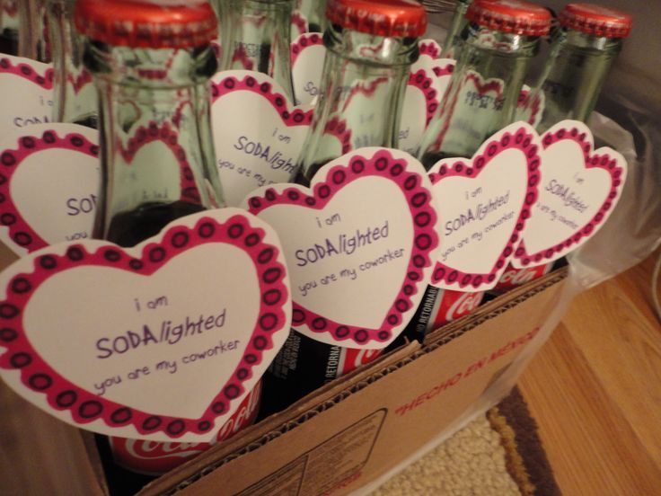 Valentines Day Co Workers | valentine treats for employees | am SODAlighted you are my coworker ...