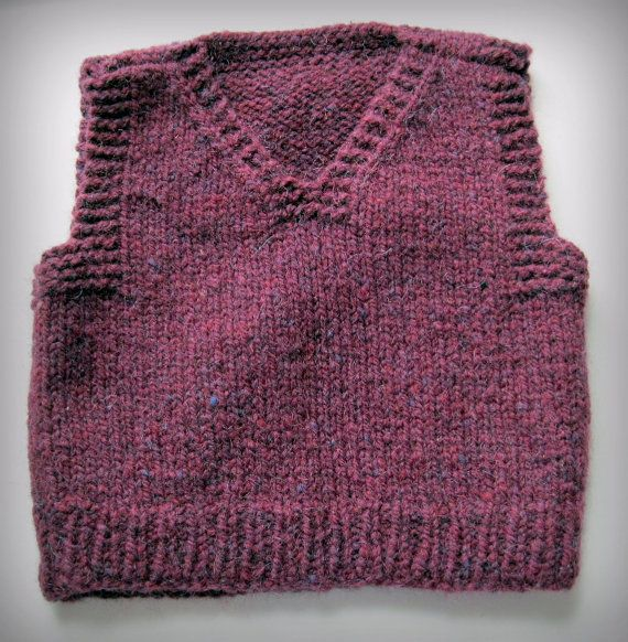 Easy knit vest pattern Childs babies girls boys by LambsEars
