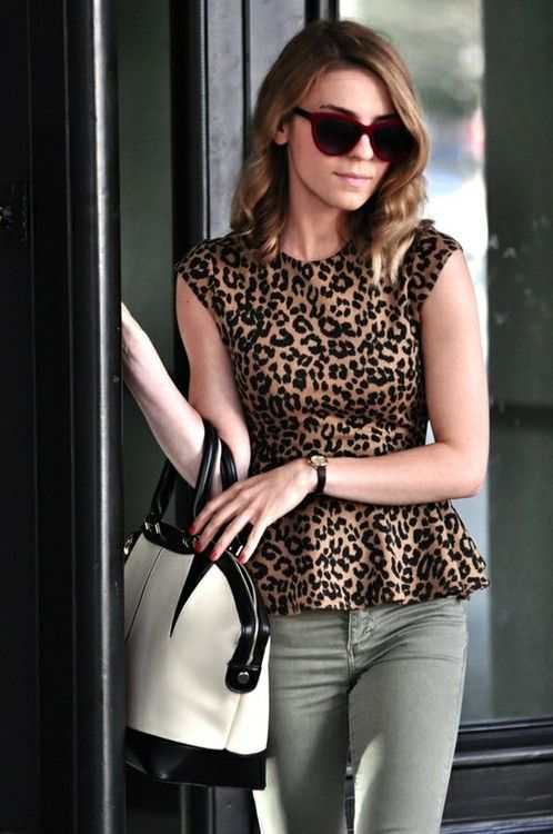 leopard peplum top <3 - always spicing it up with a print