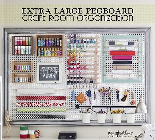 Craft Room Organizational Pegboard.  I WANT THIS!