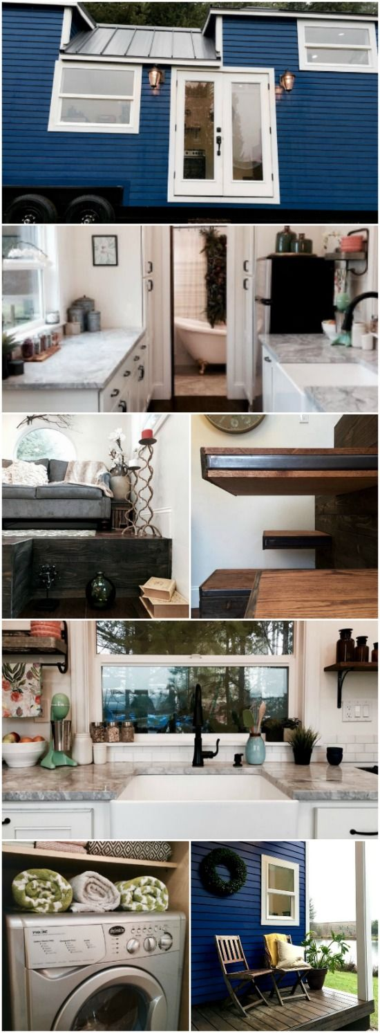 Tiny Heirloom Pulls Out All the Bells & Whistles to Build This Vintage Glam Tiny House - Tiny House builders are often approached with customer's grand ideas for their dream homes and then their not-so-grand budgets to make it happen. This next tiny house definitely had grand ideas but they also had the budget to back them up with!