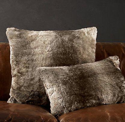 Restoration Hardware Look-Alikes: Save 23.00 vs Restoration Hardware Luxe Faux Fur Pillow - Mink