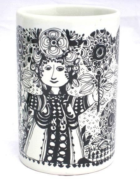 Flora Nymolle Vase by Bjorn Wiinblad. Rosenthal, 1960's.