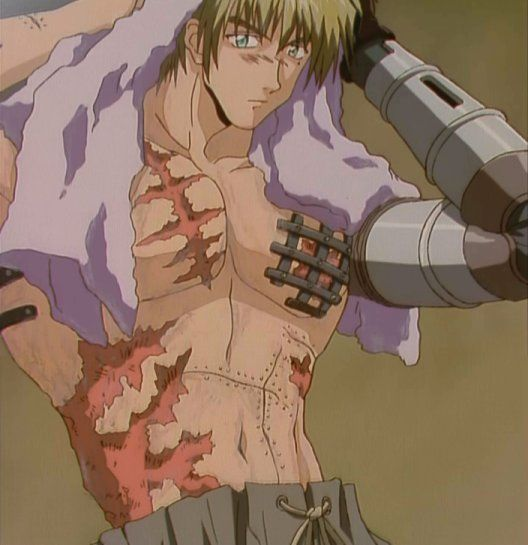 Okay, like seriously, Vash thinks girls will be disgusted or freaked out by his scars and what not...but honestly, I think he is freakin' HOT, scars and all <3 (especially with his hair down)