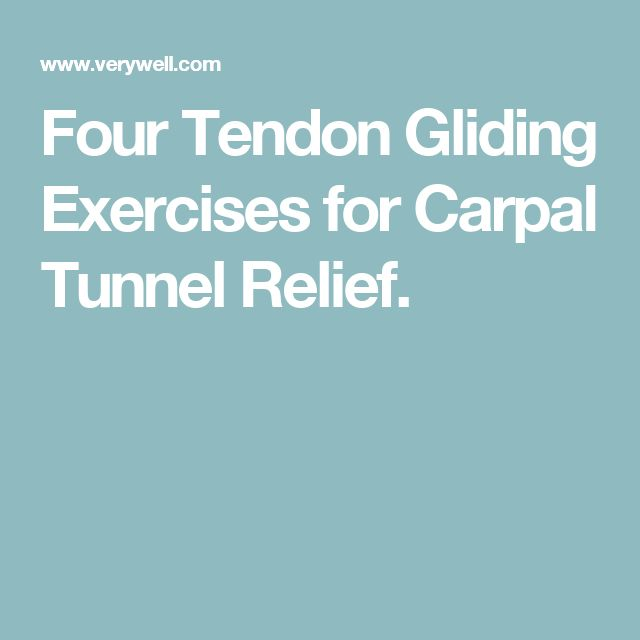 Four Tendon Gliding Exercises for Carpal Tunnel Relief.