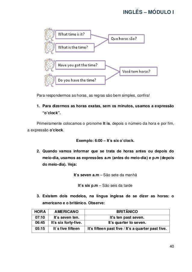 Apostila Ingles Para Iniciantes2 Vocabulario Em Ingles Aprender