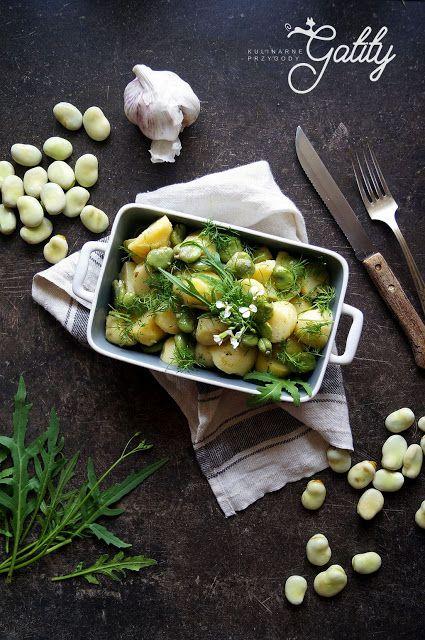 Sałatka z bobem i ziemniakami   Kulinarne przygody Gatity - przepisy pełne smaku