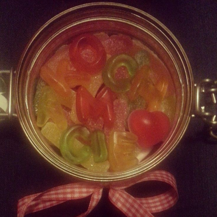 #iloveyou #polish #candy #jar #gift #jelly #sweets #first #anniversary