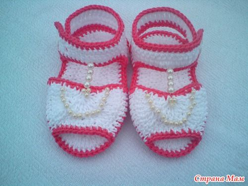 FREE PATTERN Crochet cute sandals for a little girl, crrochet tutorial ~ Craft , handmade blog