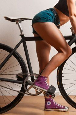 Cycling is a great way to extend your legs and work out. It gets you places and it mainly works out that tushie and those thighs!