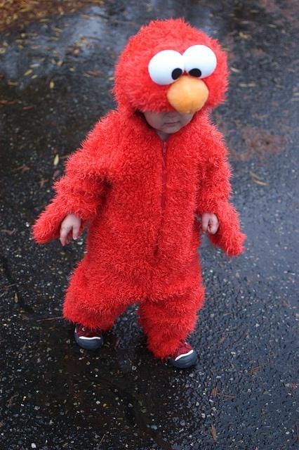 An elmo costume for toddlers.
