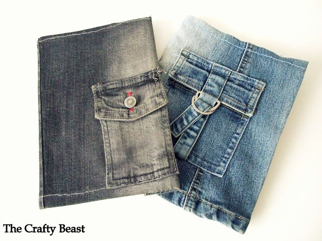 DIY Jeans Notebook Cover