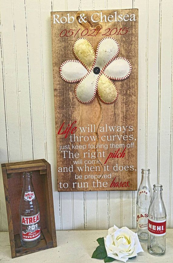 Personalized Wedding Gift / Softball Gift / by ThePaintedSignCo