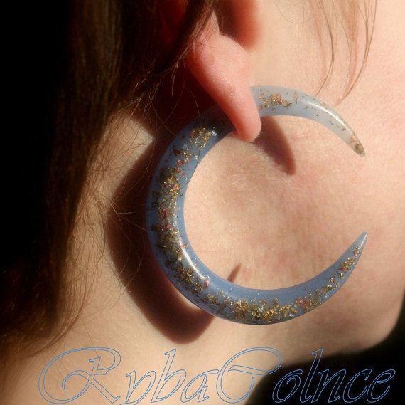 Fake ear gauge / Faux gauge/Gauge earrings / fake by RybaColnce