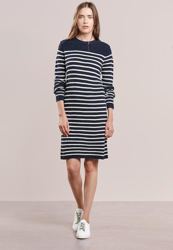 52c00747 Strikket kjole - bright navy/collection cream | WEBFINDS | Jumper dress,  Polo Ralph Lauren og Ralph lauren jumper