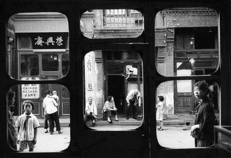 Beijing, 1965. These windows overlook Liulichang, the street of antique and…