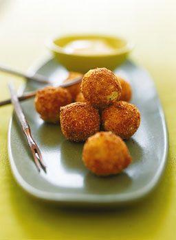 Potato Croquetas with Saffron Alioli Photo - Party Hors Doeuvres Recipe | Epicurious.com