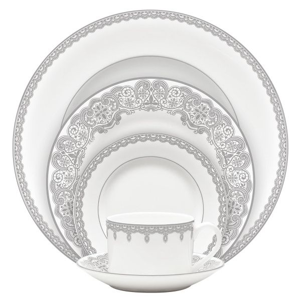 A classically traditional formal dinnerware pattern, Lismore Lace Platinum will resonate with the lover of luxury lifestyle tableware. 5-Piece Place Setting promoproducts.com