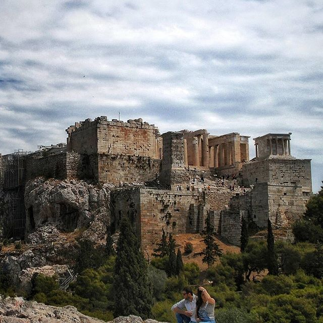 by @manos_gkm   ACROPOLIS of ATHENS from Arios Pagos Rocks (Ο Ιερός βράχος της Ακρόπολης από τον Άρειο Πάγο), ATTICA - GREECE #athens #akropolis #greece .
