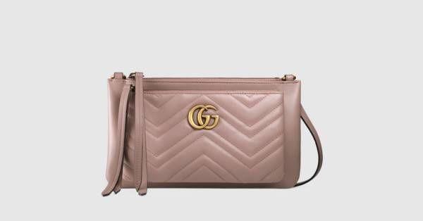 1b75c163cde Schultertasche aus GG Marmont mit Pochette - Gucci Damen Kleine Taschen  453878DRW1T5729