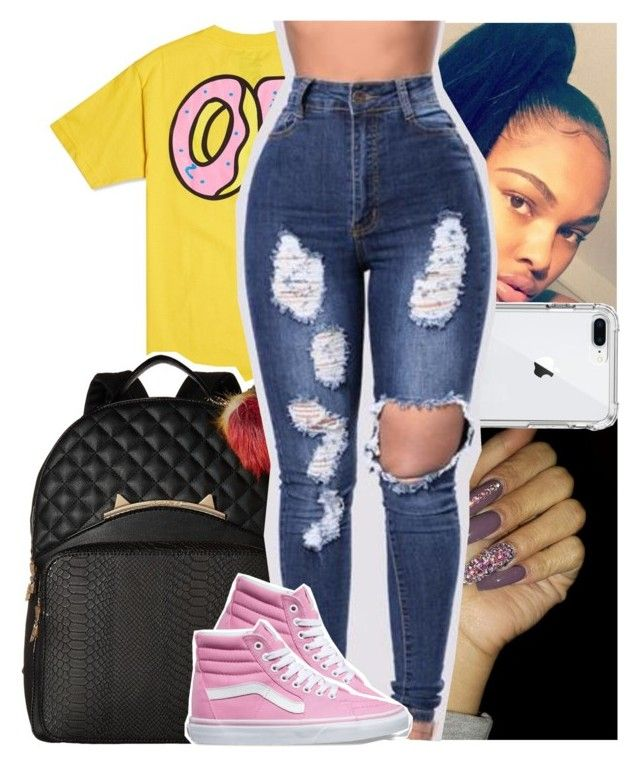 """"""""""" by heeytyy ❤ liked on Polyvore featuring ODD FUTURE, Betsey Johnson and Vans"""