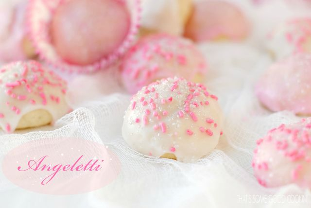 Angeletti--a light and airy, softly sweet Italian cookie