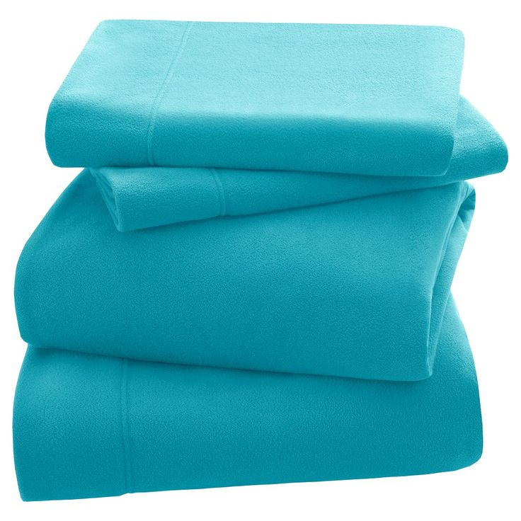 3M Scotchgard Micro Fleece Sheet Set (Twin) Aqua (Blue)