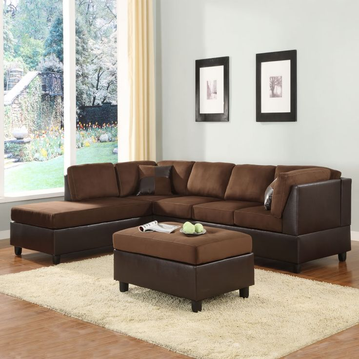 Oxford Creek Transitional Icon Sectional Set with 2 Pillows and ottoman, Multi