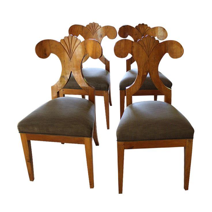 Biedermeier Armless Side Chairs