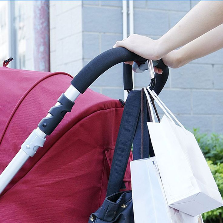 Baby Trendy Pushchair Diaper Bag Hanger Stroller Clip Hook Buggy Pram Carabiner