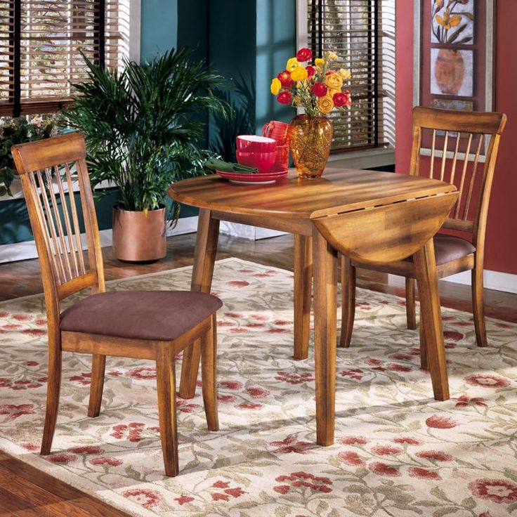 Berringer 3 Piece Drop Leaf Table Amp 2 Upholstered Side