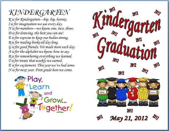 144 best Kinder Celebration\/Graduation images on Pinterest - graduation program