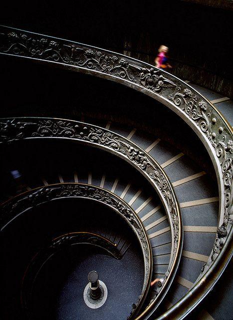 Vatican stairway Whorl,  Helix, Architecture, Amazing Vatican, Vatican Gallery,  Volute,  Spirals, Vatican Cities, Spirals Staircas