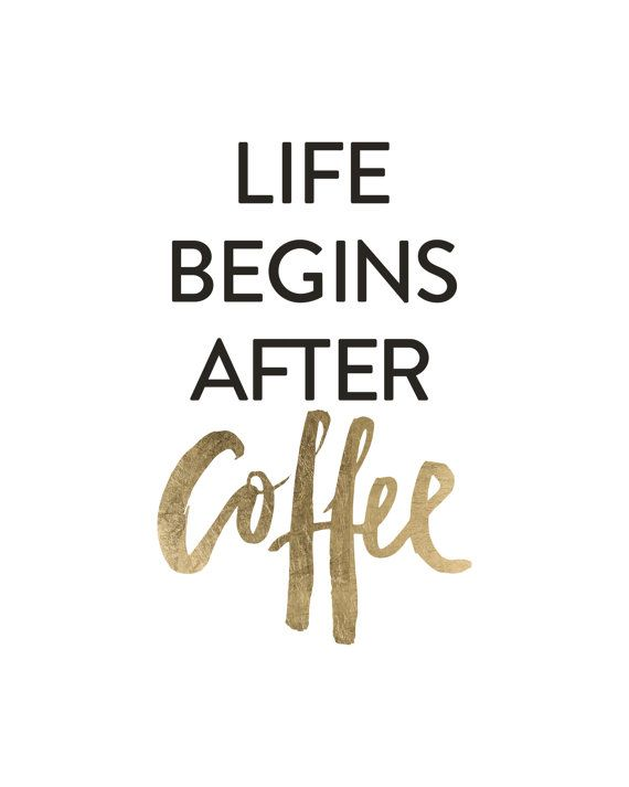 Life Begins After Coffee Handlettered Lettering by planeta444